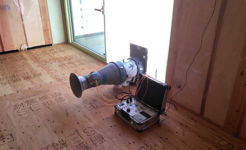『Comfortable Modern』の気密測定。。。