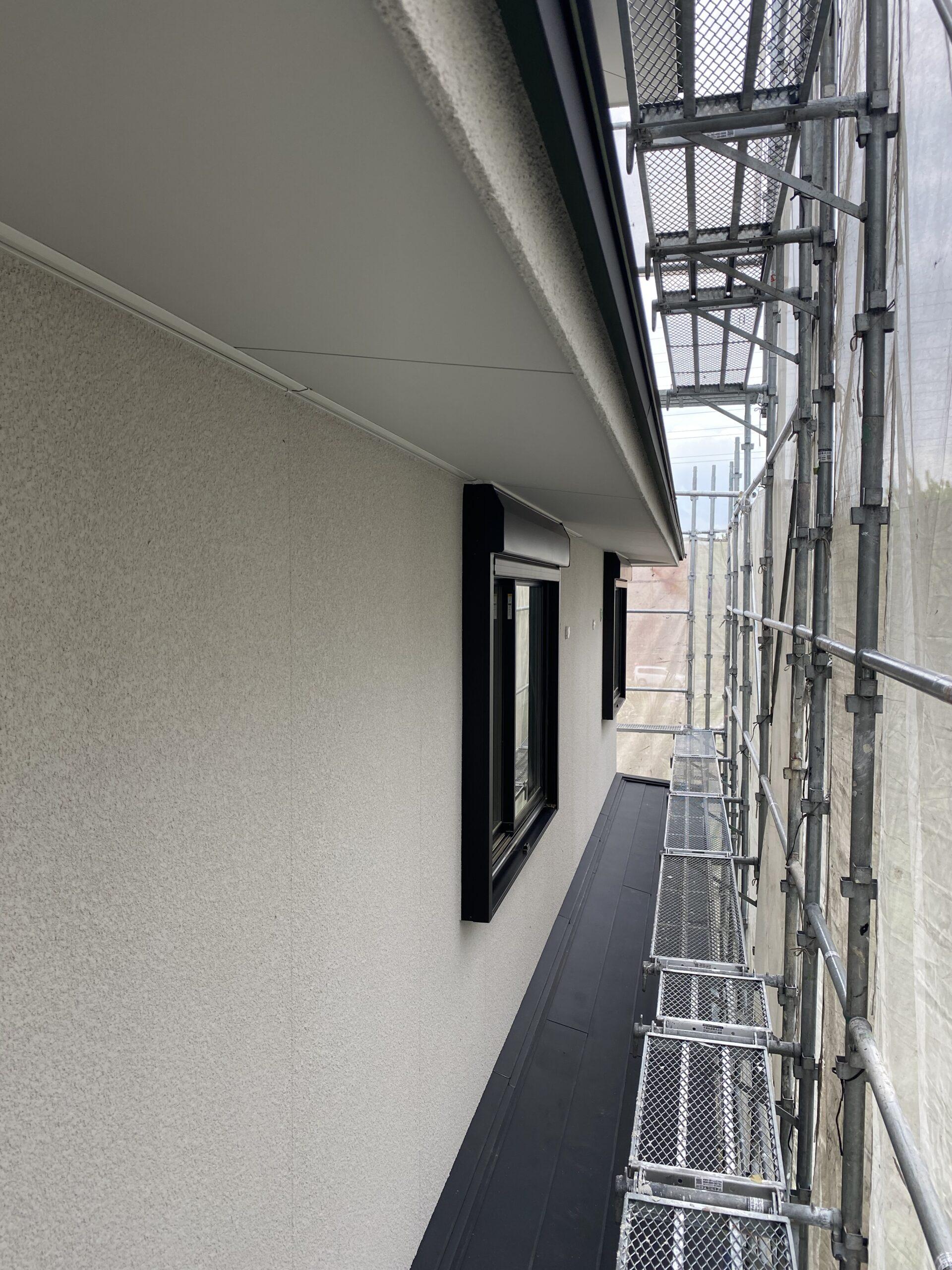 外壁塗装完了。